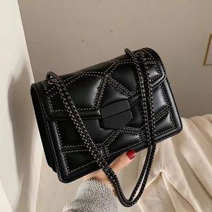 Quilted No-Pain-To-Animal Black Evening Bag